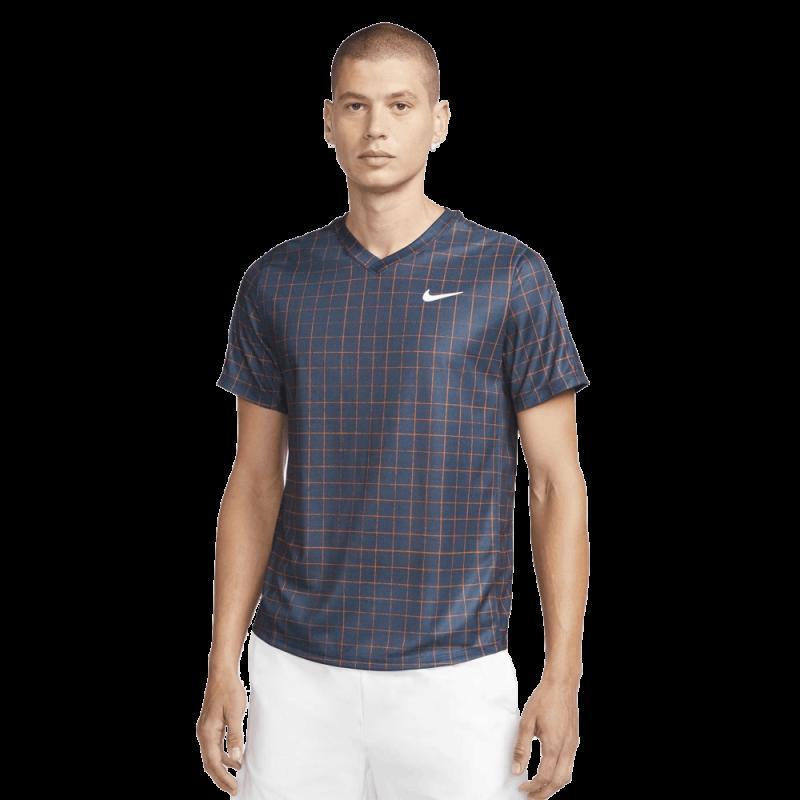 Tee Shirt NikeCourt Dri-FIT Victory Bleu Marine