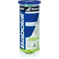 Tube de 3 Balles Intermédiaires Babolat Green