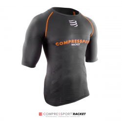 Tee Shirt Compression Compressport Racket Noir