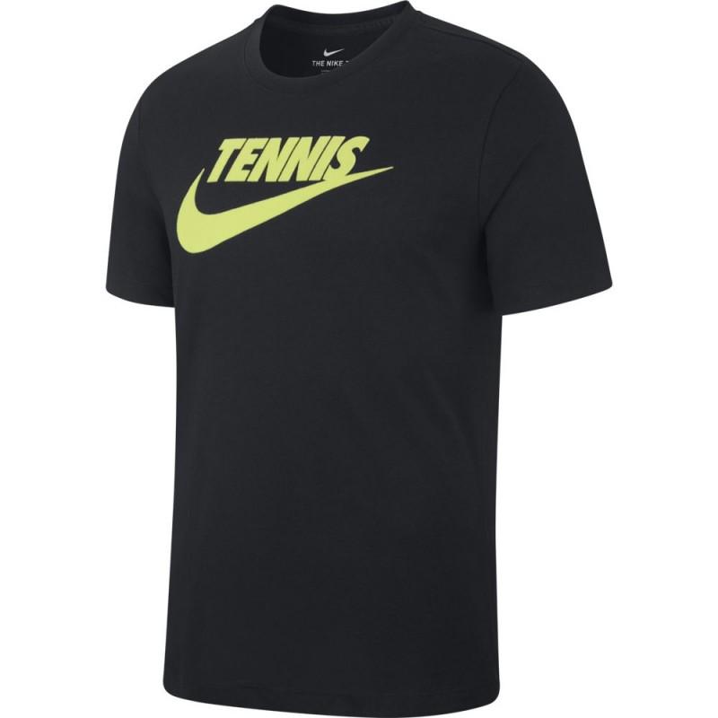 Tee Shirt Junior NikeCourt Dri-Fit Noir