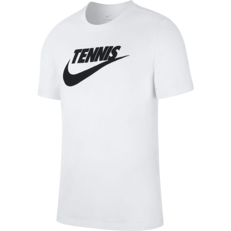 Tee Shirt Junior NikeCourt Dri-Fit Blanc