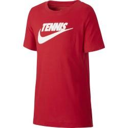 Tee Shirt Junior NikeCourt Dri-Fit Rouge