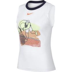 Débardeur Femme Nikecourt Dri-Fit Blanc