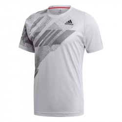 Tee Shirt Adidas Freelift Printed Heat.Rdy Gris