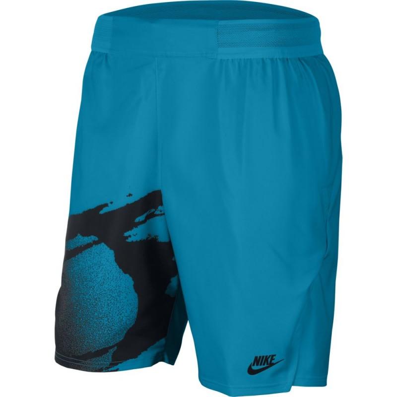 Short NikeCourt Slam Bleu