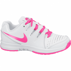 Chaussure Junior Nike Vapor Court Blanc/Rose