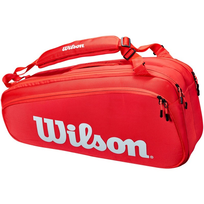 Sac Thermo Wilson Super Tour 6 Raquettes Rouge