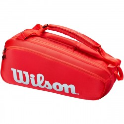Achat Sac Thermo Wilson Super Tour 6 Raquettes Rouge