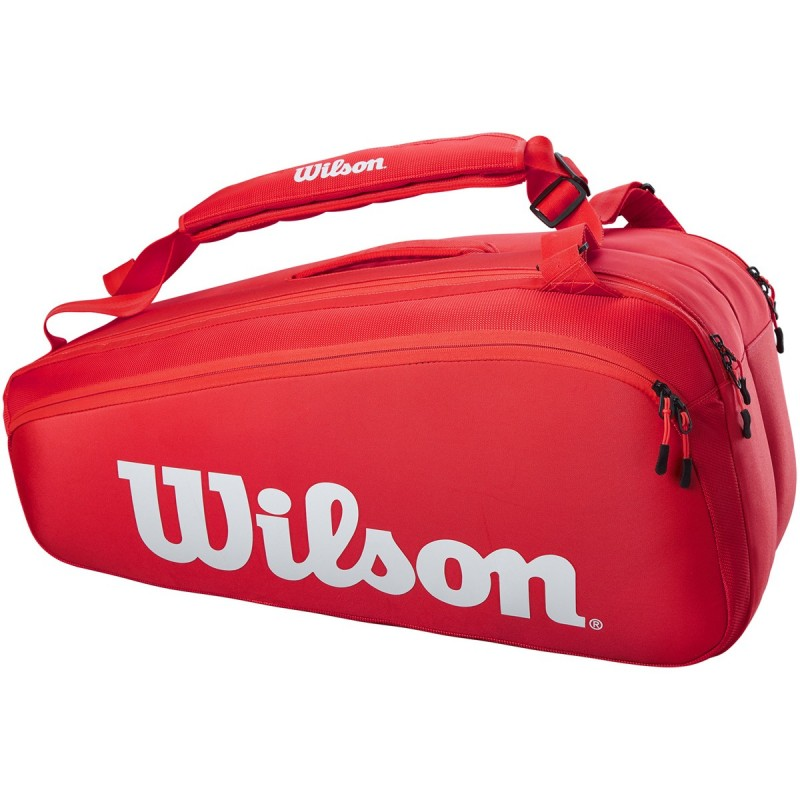 Sac Thermo Wilson Super Tour 9 Raquettes Rouge