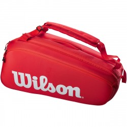 Achat Sac Thermo Wilson Super Tour 9 Raquettes Rouge