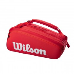 Achat Sac Thermo Wilson Super Tour 15 Raquettes Rouge