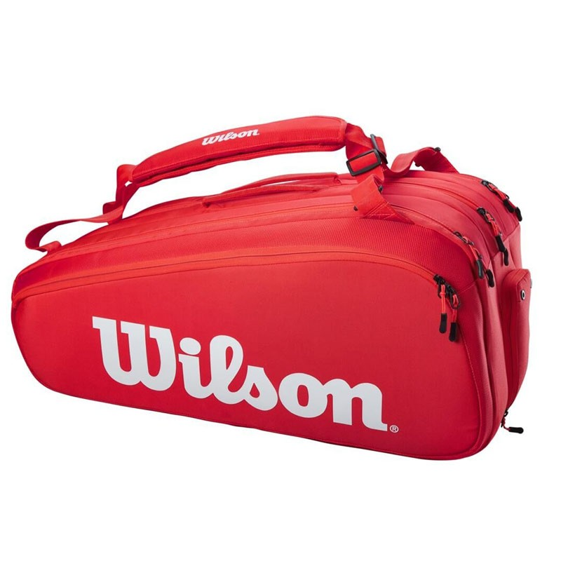 Sac Thermo Wilson Super Tour 15 Raquettes Rouge