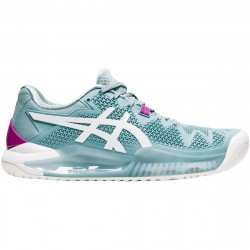 Chaussure Femme Asics Gel Resolution 8 Turquoise