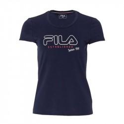 Tee shirt Femme Fila Svenja Bleu Marine