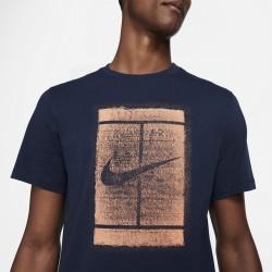 Promo Tee Shirt Nike Court Bleu Marine