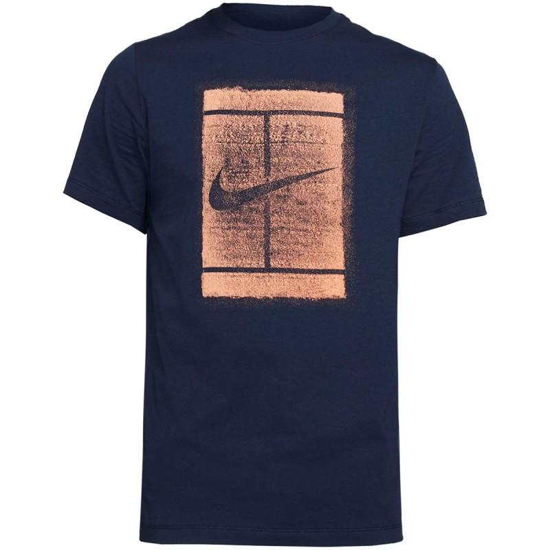 Tee Shirt Nike Court Bleu Marine