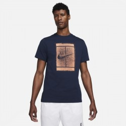 Achat Tee Shirt Nike Court Bleu Marine