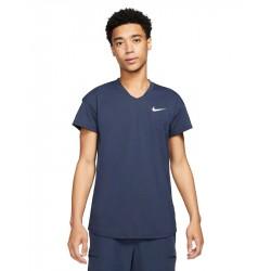 Tee Shirt NikeCourt Breathe Slam Bleu Marine