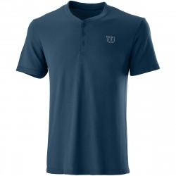 Tee Shirt Wilson Seamless Henley II Bleu Marine