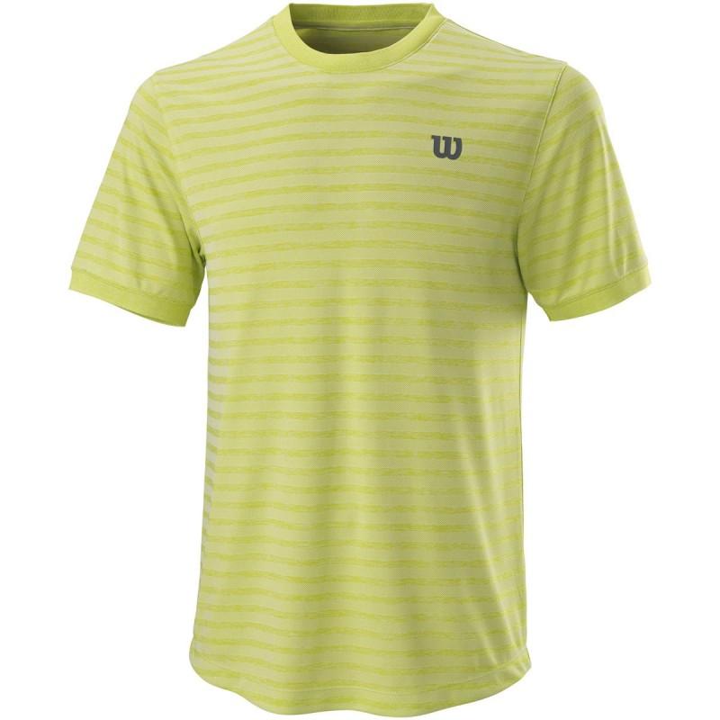 Tee Shirt Wilson Stripe Crew Vert
