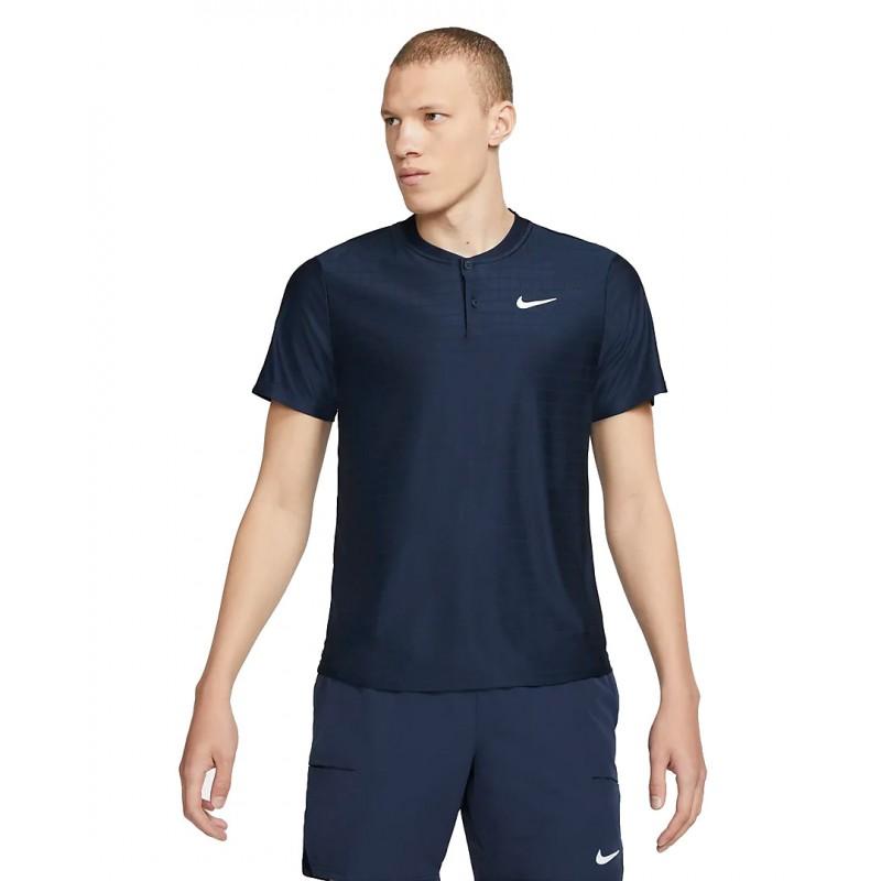 Polo NikeCourt Dri-FIT Advantage Bleu Marine
