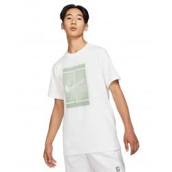 Tee Shirt NikeCourt Blanc