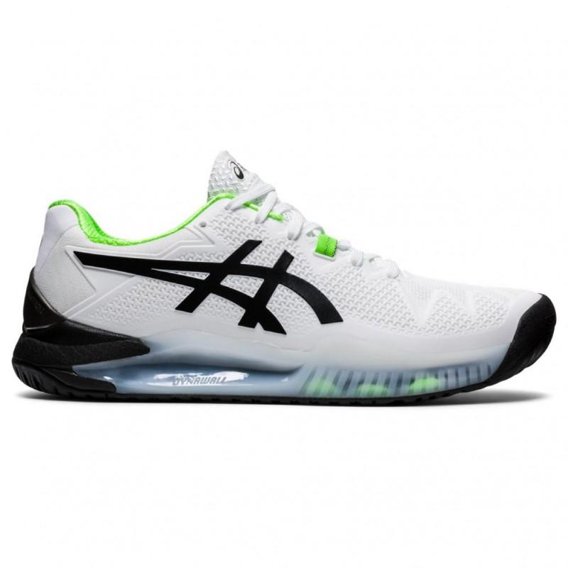 Chaussure Asics Gel Resolution 8 Blanc/Vert : Achat Asics Gel ...