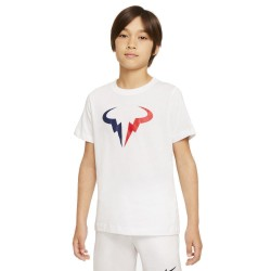 Tee Shirt Junior NikeCourt Dri-FIT Rafa Blanc