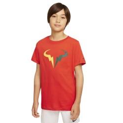 Tee Shirt Junior NikeCourt Dri-FIT Rafa Rouge