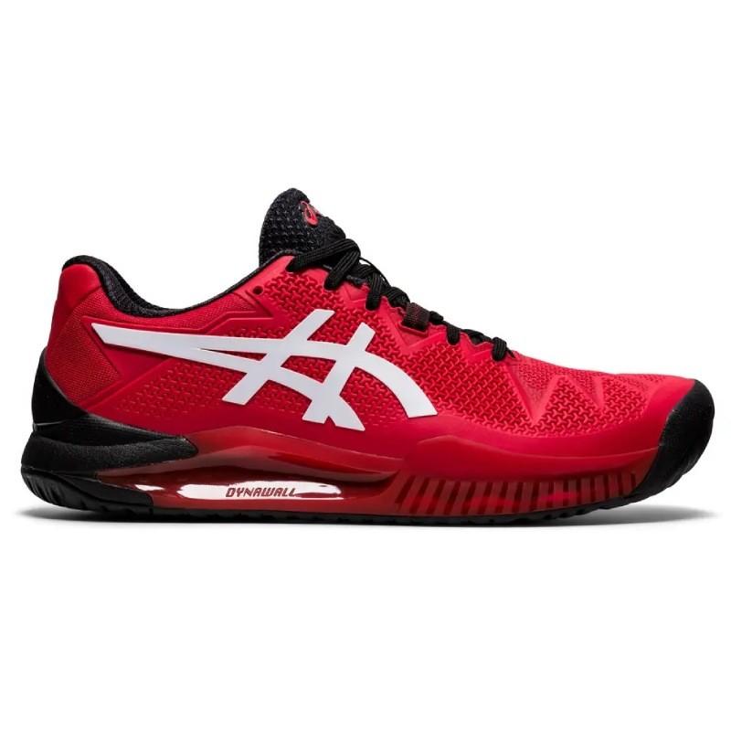 Chaussure Asics Gel Resolution 8 Rouge : Achat Asics Gel ...