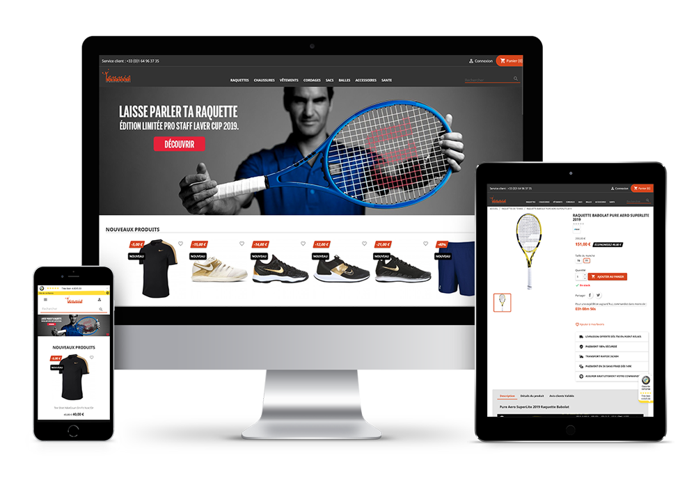 Tennis Compagnie, distributeurs marques de tennis
